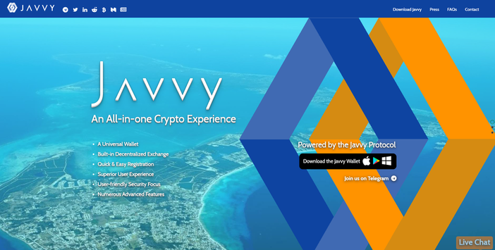 javvy cryptocurrency opstarten