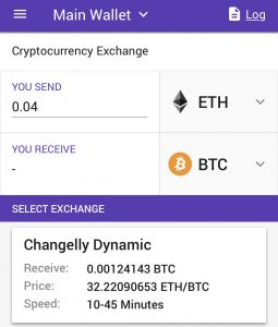 Enjin Wallet Exchange-interface