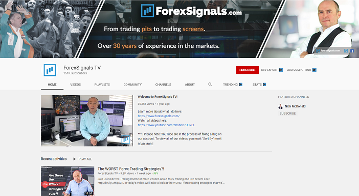 forexsignals tv youtube