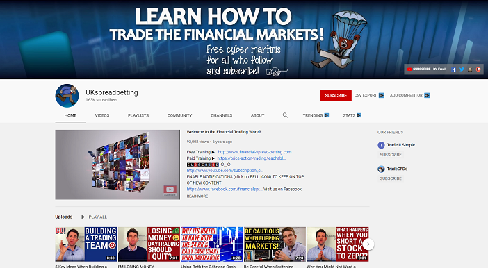 ukspreadbetting youtube